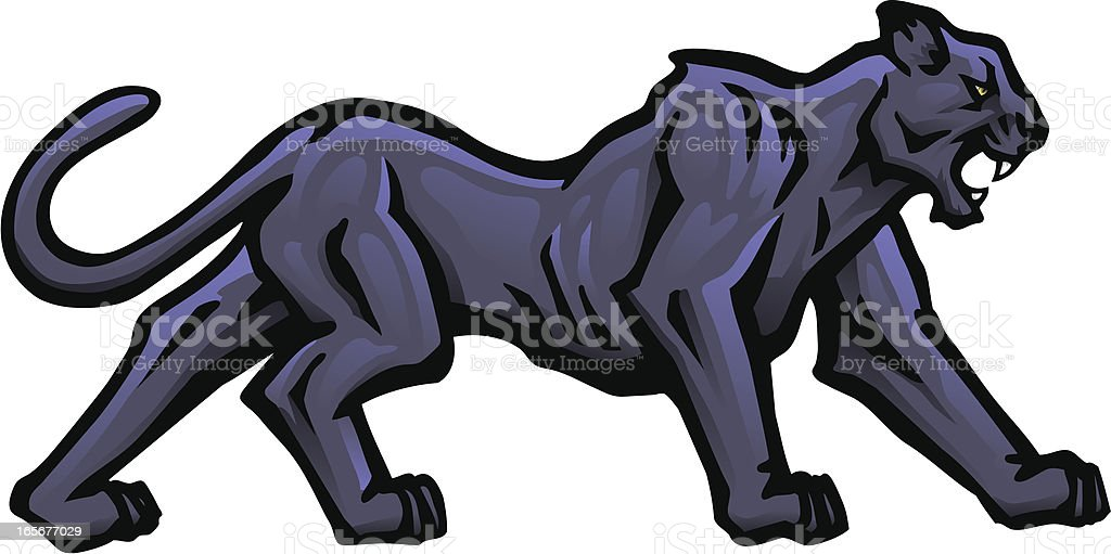 Panther Stalking royalty-free panther stalking stock vector art & more images of aggression