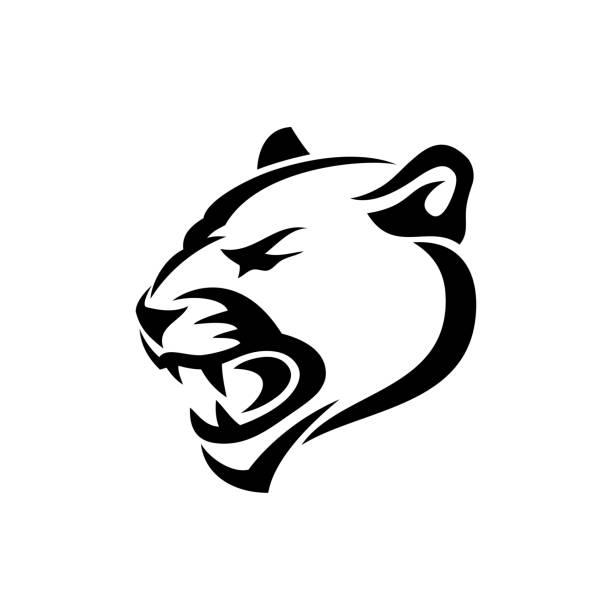 Panther symbol - vector illustration Panther symbol jaguar stock illustrations