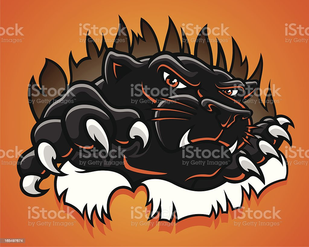 panther_burst vector art illustration