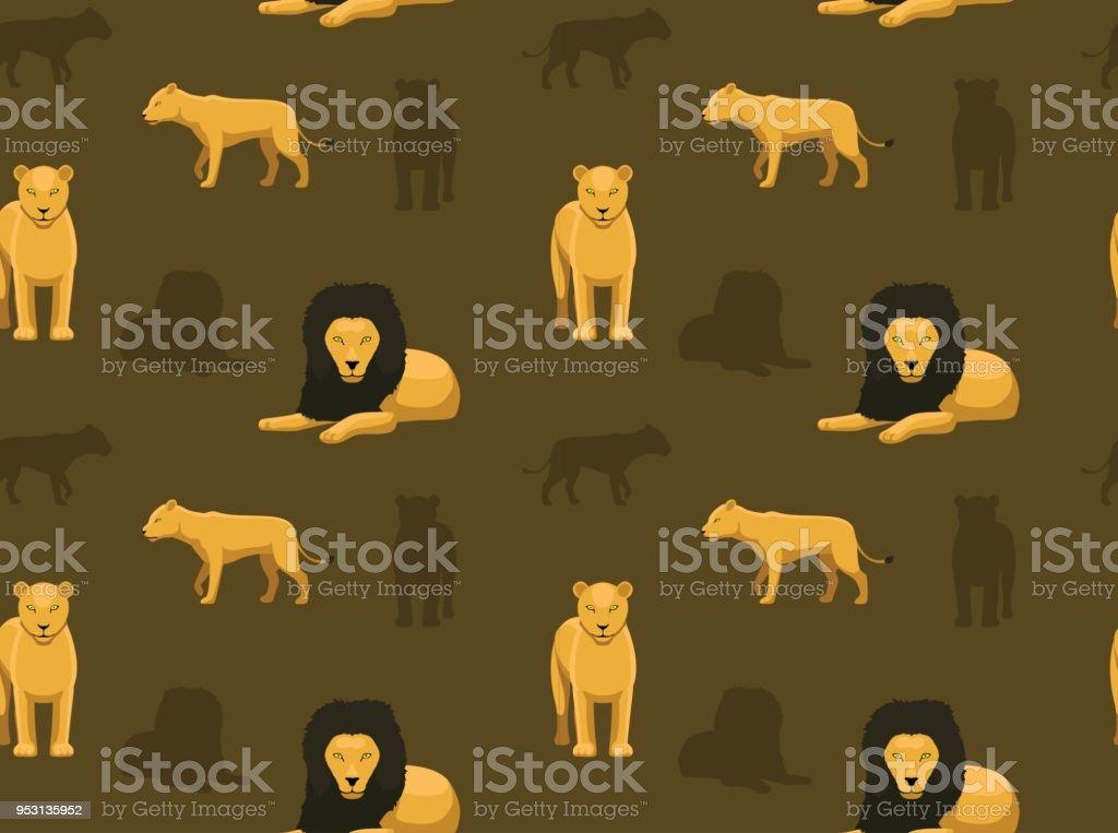 Panthera Löwe Wallpaper 2 Stock Vektor Art Und Mehr Bilder Von