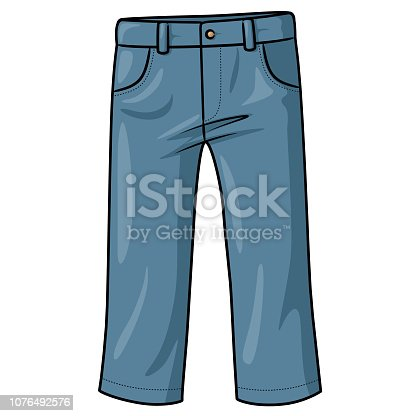 Illustration of cute cartoon pants.