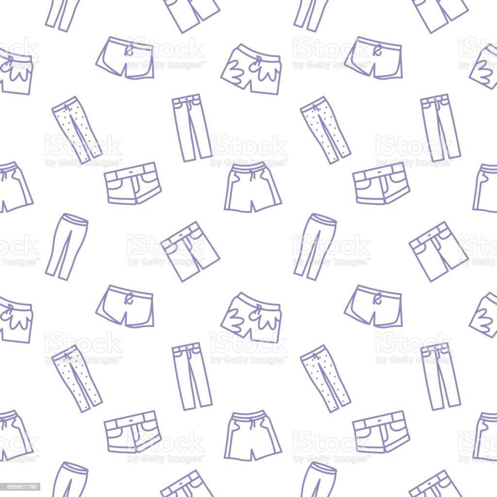 Kurze Hosen Musterdesign Vektor Illustration Hintergrund