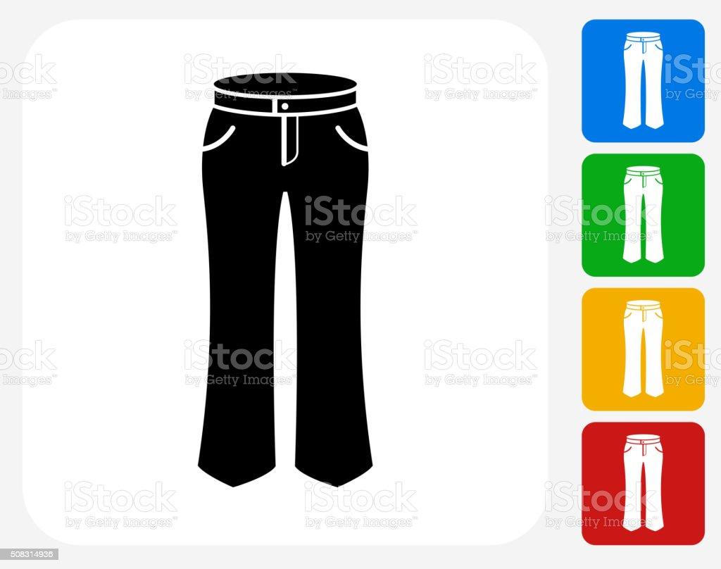 Pants Icon Flat Graphic Design vector art illustration