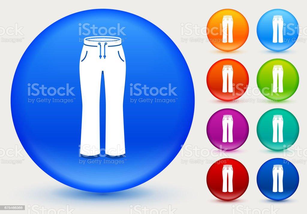 Pantalon Icon sur cercle de couleur brillante boutons pantalon icon sur cercle de couleur brillante boutons – cliparts vectoriels et plus d'images de arts culture et spectacles libre de droits