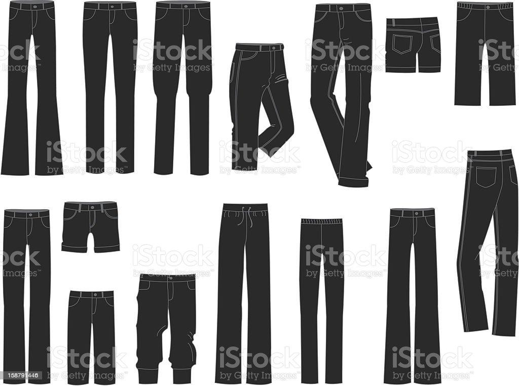 Pants vector art illustration