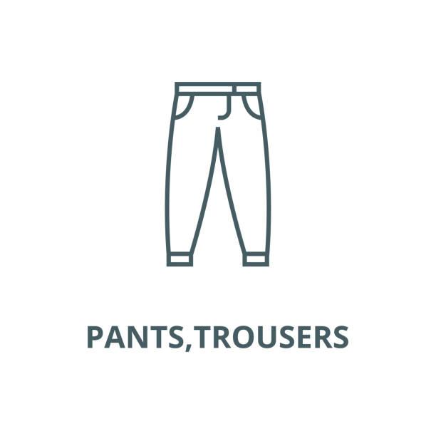 pantolon, pantolon vektör hattı simgesi, doğrusal kavram, anahat işareti, sembol - sale stock illustrations