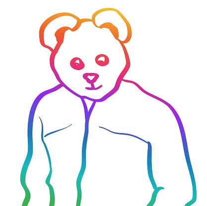 Papa Bear Rainbow