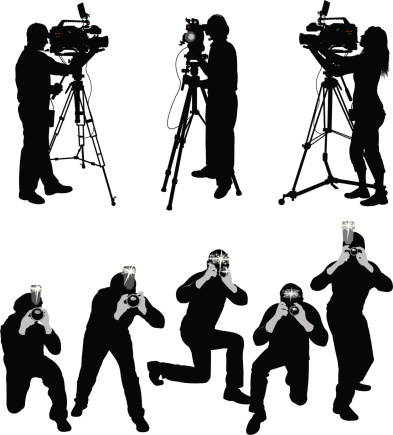 Paparazzi and Television Crew