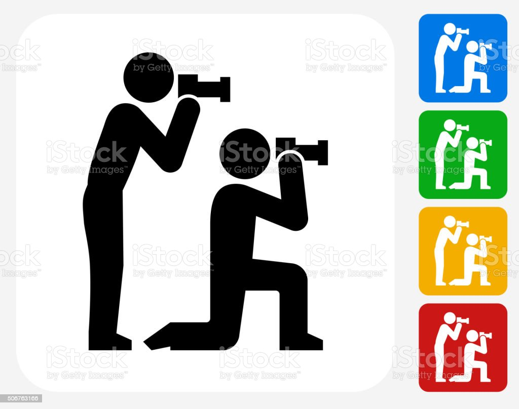 paparazzi icon flat graphic design royalty free stock vector art