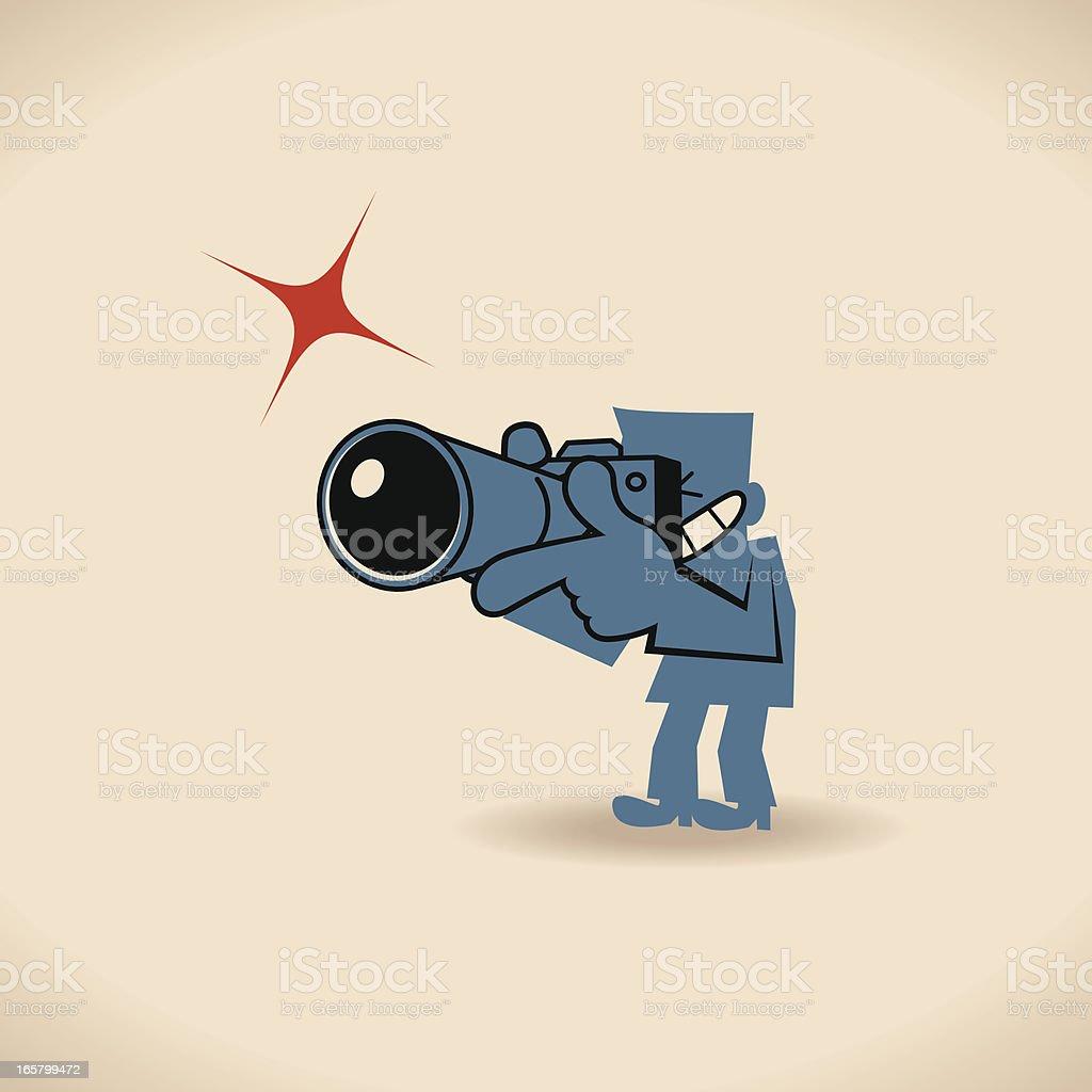 Paparazzi Photographer vector art illustration
