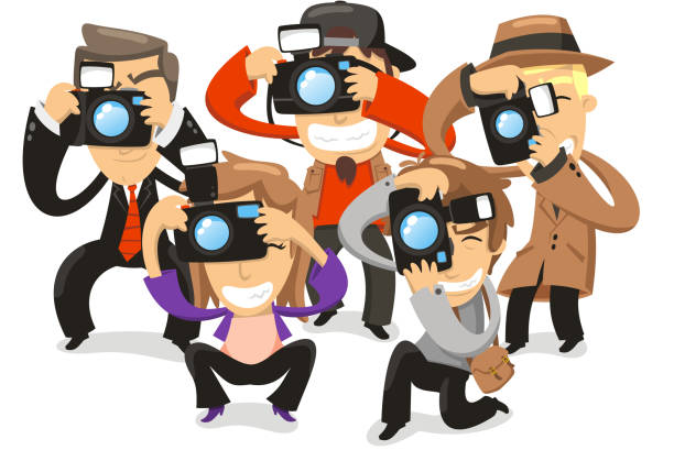 Paparazzi Clip Art, Vector Images & Illustrations - iStock