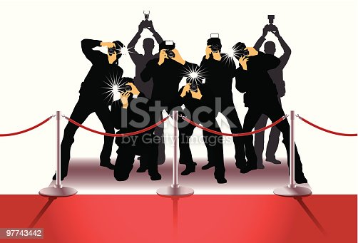 Photographers at the Red Carpet.