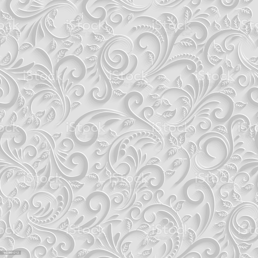 Paper 3d floral pattern stock vector art more images of for Paper wallpaper designs