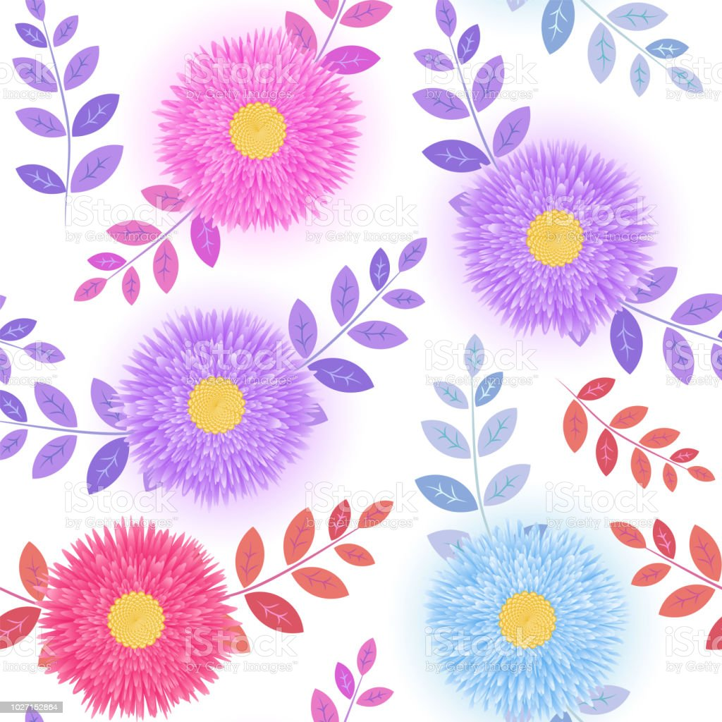 Paper 3d Flower Pattern For Modern Design Banners Posters Websites