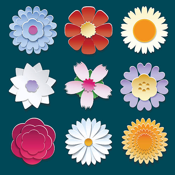 royalty free origami flowers clip art vector images illustrations istock. Black Bedroom Furniture Sets. Home Design Ideas
