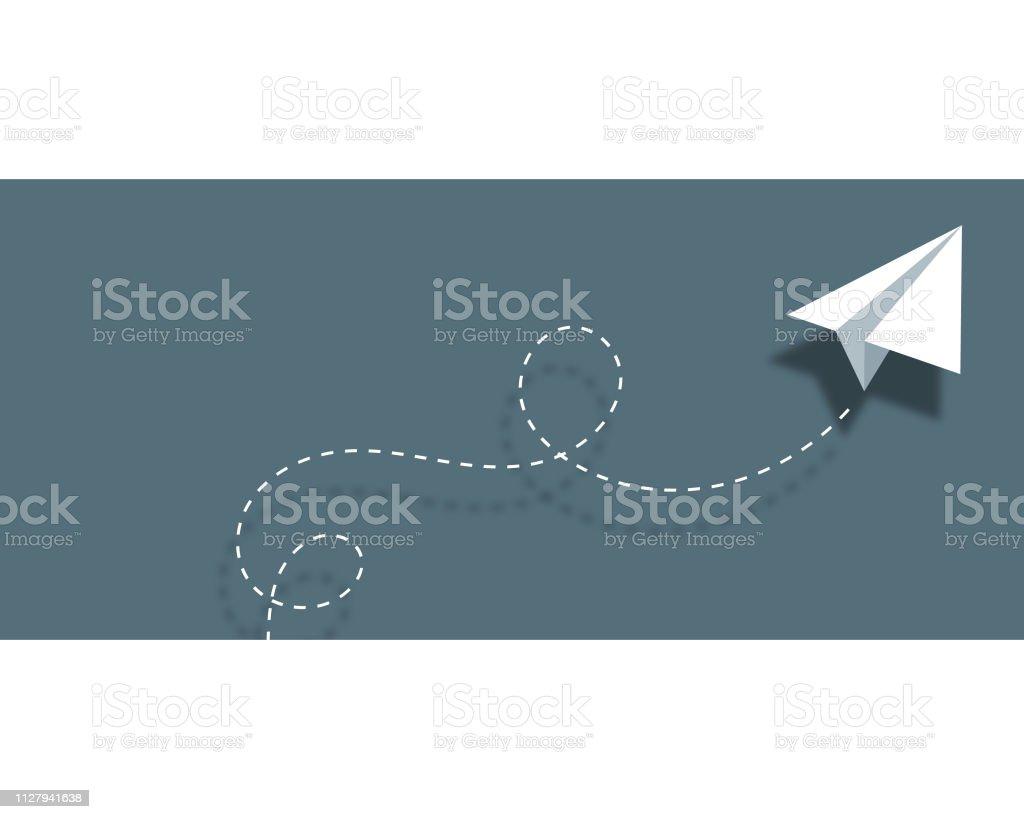 Papier Flugzeug Hintergrund Design Visitenkarte Stock Vektor