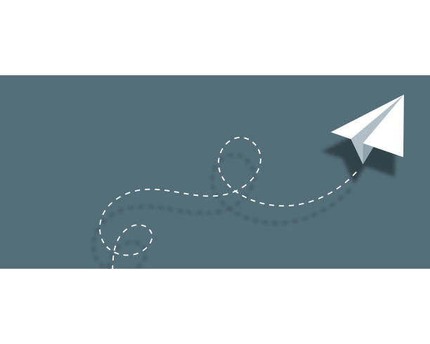 Paper airplane background design business card Vector illustration of a paper airplane background design that can also be used as the template for a business card. paper airplane stock illustrations