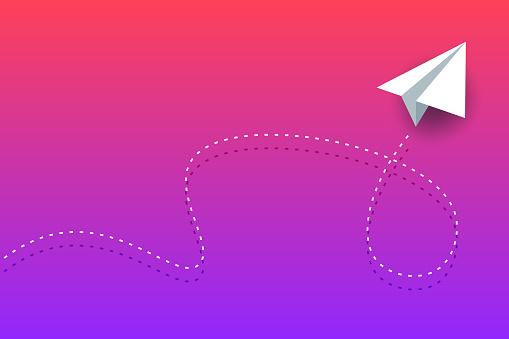 Paper airplane background design