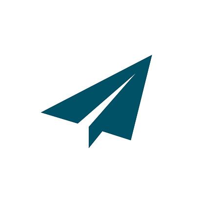Paper airplane icon, send symbol – stock vector