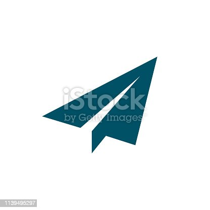 Paper airplane icon, send symbol – stock vector