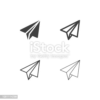 Paper Airplane Icons Multi Series Vector EPS File.