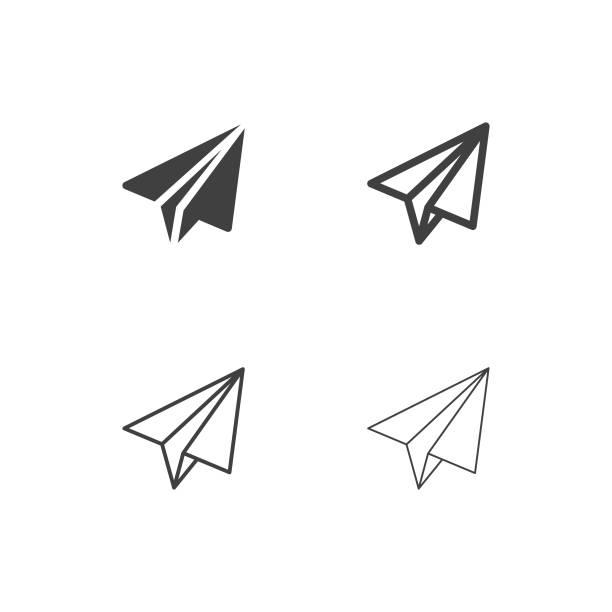 Paper Airplane Icons - Multi Series Paper Airplane Icons Multi Series Vector EPS File. airplane symbols stock illustrations