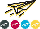 istock Paper Airplane - Ideas - Icon 1090164958
