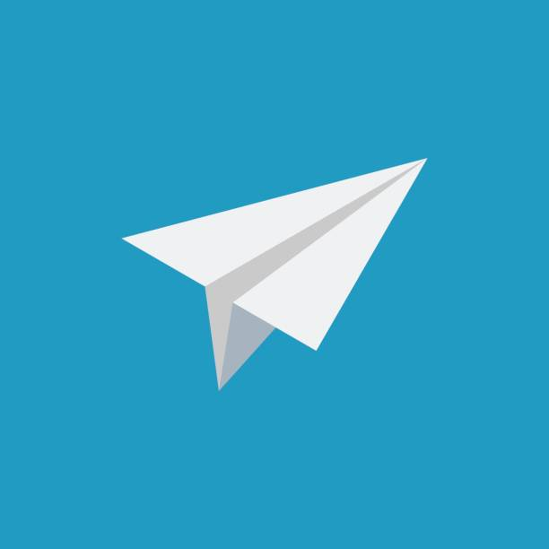 Paper airplane isometric icon Paper airplane isometric icon. Vector illustration in simple flat style on blue background flight suit stock illustrations