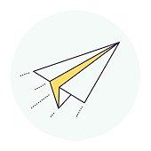 Paper Airplane Symbol