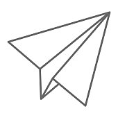 Paper Airplane thin line icon, delivery symbol, Paper plane vector sign on white background, flying kid jet icon in outline style for mobile concept and web design. Vector graphics
