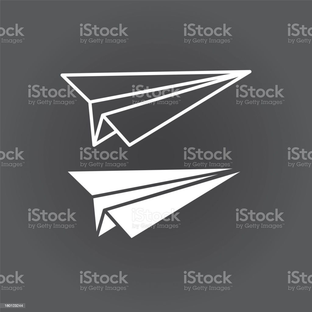paper airplane royalty-free stock vector art