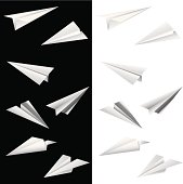 Paper Airplane,vector illustration