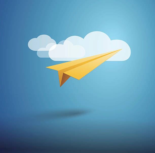 Paper Airplane Paper Airplane aviation and environment summit stock illustrations
