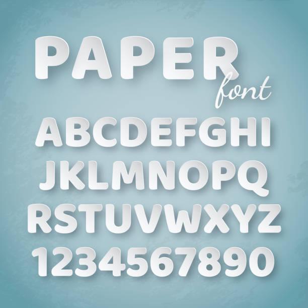 紙のアルファベット。白い文字、青い背景に数字 - 大文字点のイラスト素材/クリップアート素材/マンガ素材/アイコン素材