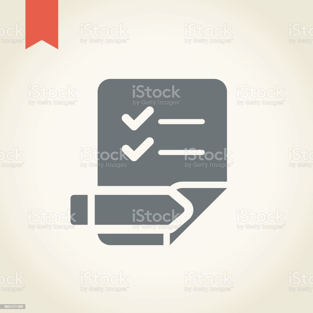 Paper and Pencil Icon royalty-free paper and pencil icon stock vector art & more images of beige