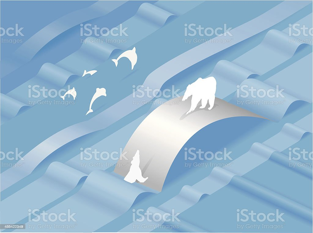 Paper Arctic royalty-free stock vector art