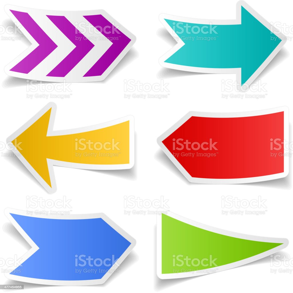Paper arrows set royalty-free stock vector art