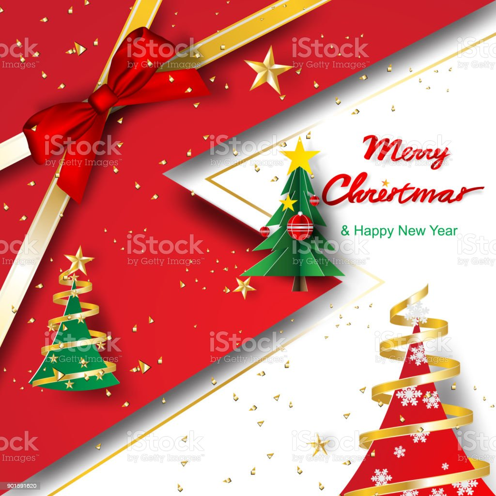 paper art and craft of merry christmas and happy new year template backgroundtreescoverdecoratevector stock illustration download image now istock https www istockphoto com vector paper art and craft of merry christmas and happy new year template background trees gm901591620 248730490
