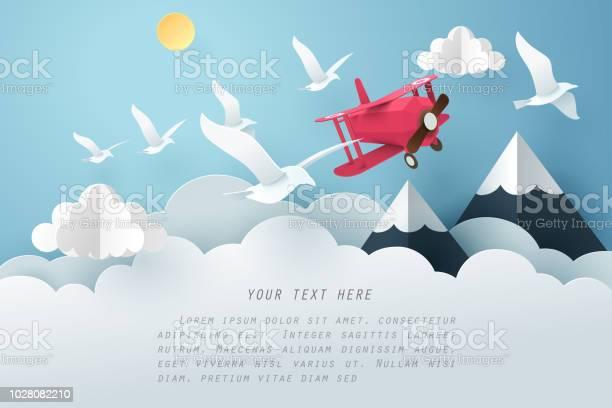 Paper art bird and airplane fly above the cloud travel and freedom vector id1028082210?b=1&k=6&m=1028082210&s=612x612&h=vl9kv4neqakgi6vgo9bfpckexecimmvvgiio8jcler0=