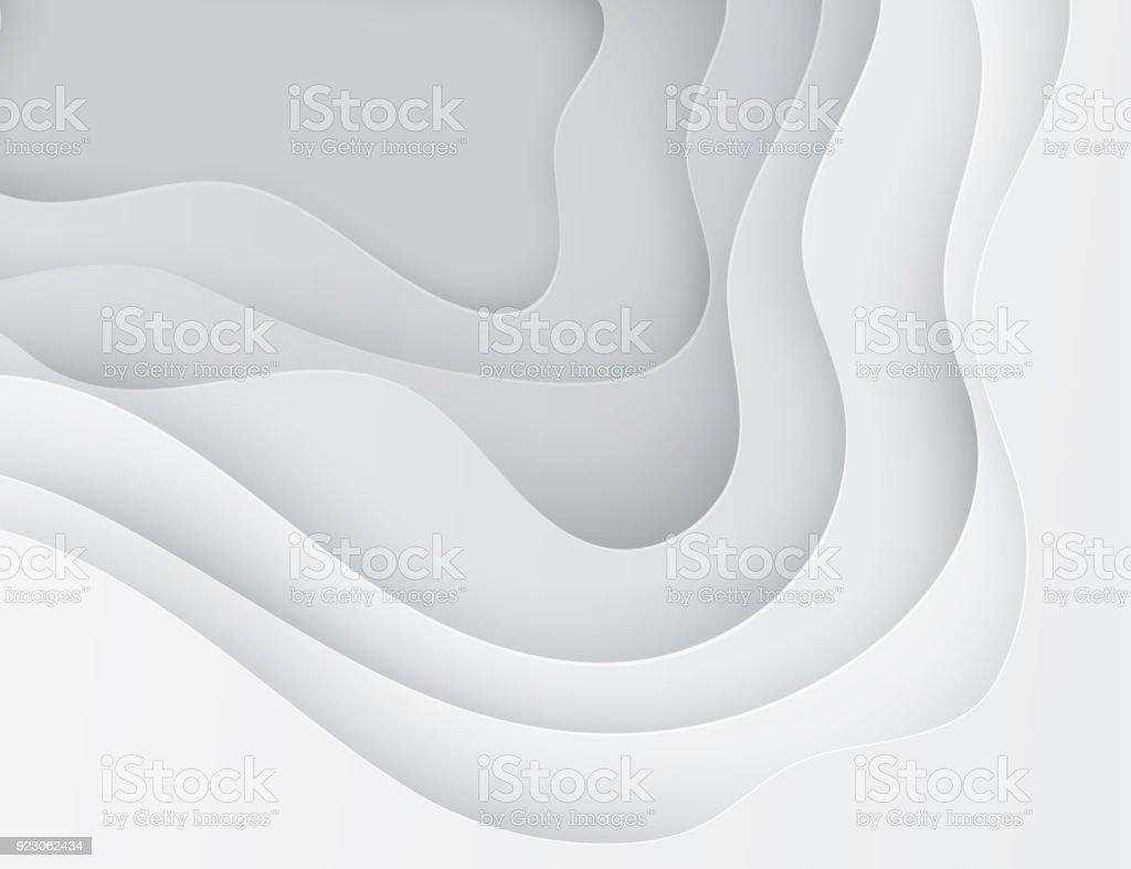 Papel arte desenho abstratas ondas, buracos. - Vetor de Abstrato royalty-free