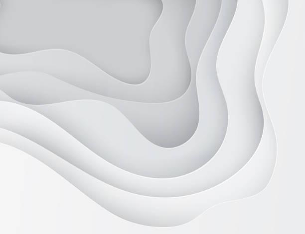 ilustrações, clipart, desenhos animados e ícones de papel arte desenho abstratas ondas, buracos. - organic shapes