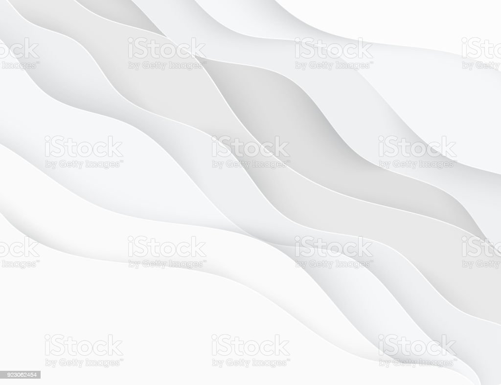 Paper art cartoon abstract waves. Paper carve background.