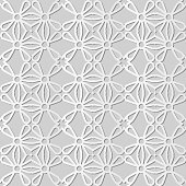 Vector stylish decoration seamless 3D vintage pattern background for web banner greeting card design