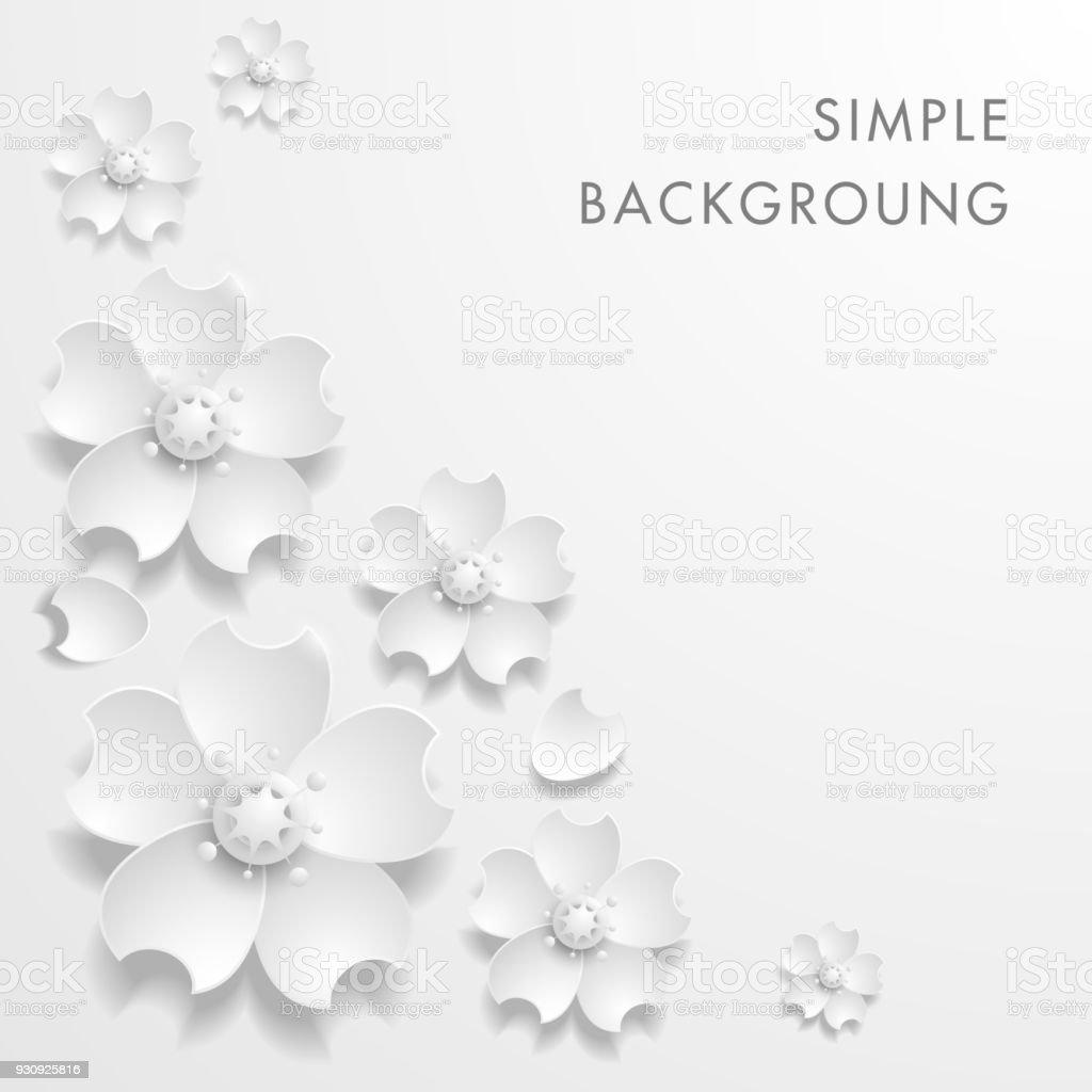 Paper Art Flower Background Origami Flower Vector Stock Stock Vector