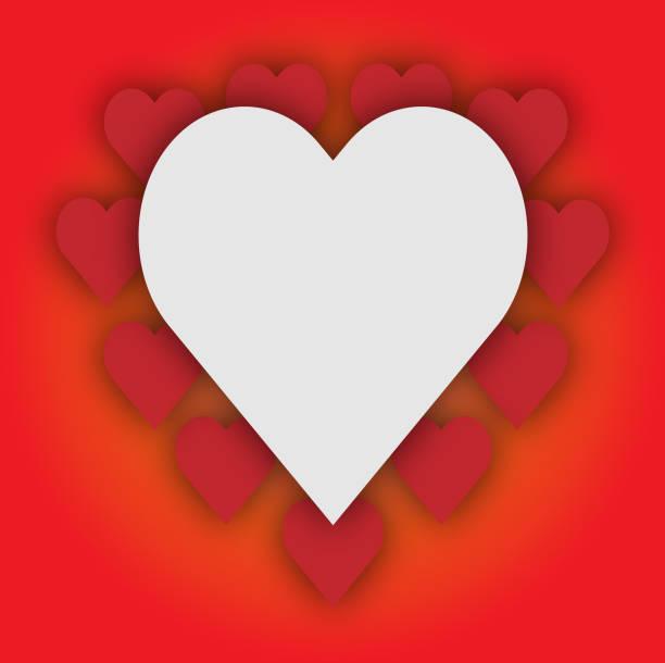 Papierkunst Happy Valentines Day Grußkarte – Vektorgrafik