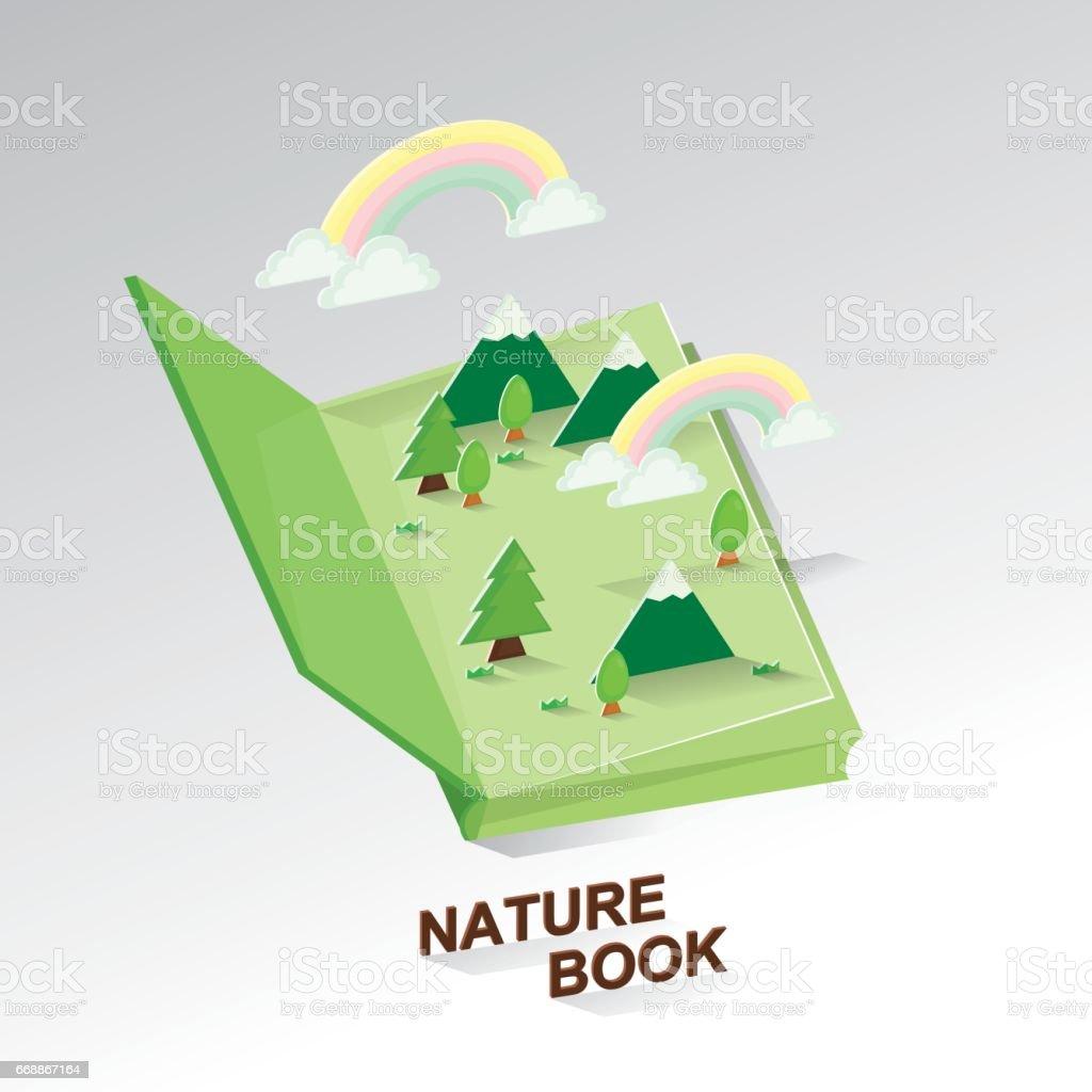 Paper art of environmental.