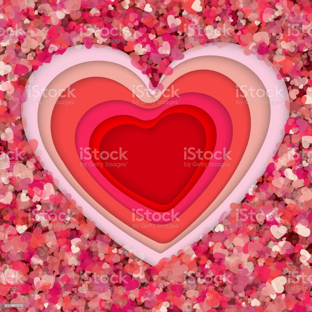 Paper Art Origami Flowers And Valentines Day Concept Vector Art And