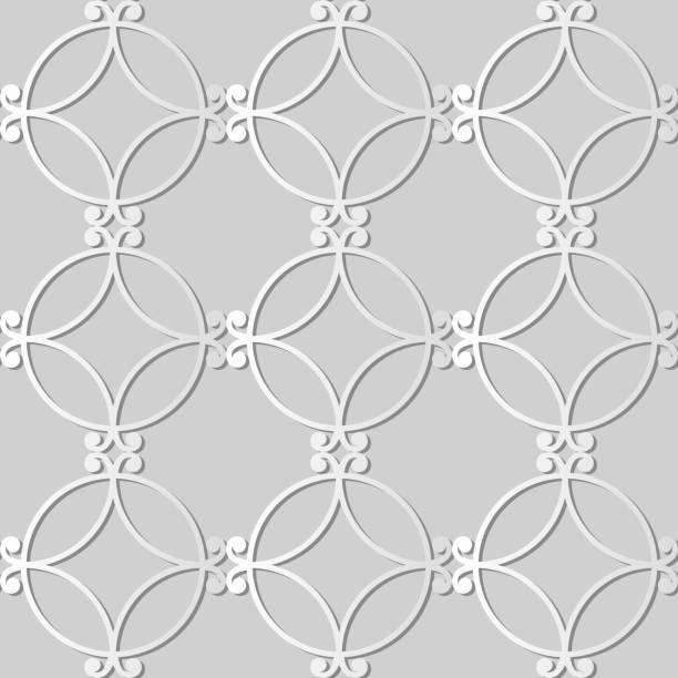 3d papierkunst spirale runden kurve cross rahmen - gartenskulpturkunst stock-grafiken, -clipart, -cartoons und -symbole