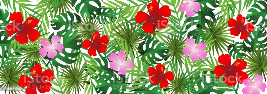 Paper Art With Tropical And Summer Background Vintage Design Vector