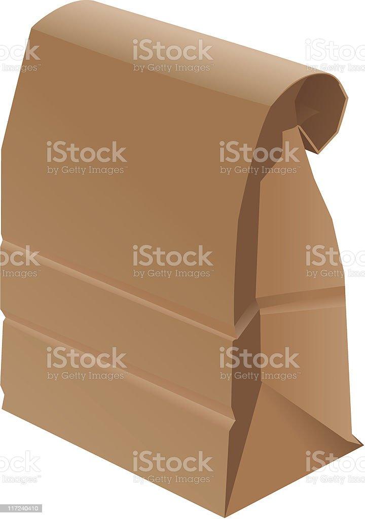 Paper Bag - Folded royalty-free stock vector art